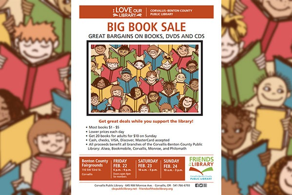 Friends of the Library Big Book Sale at the Benton County Fairgrounds in Corvallis, Oregon