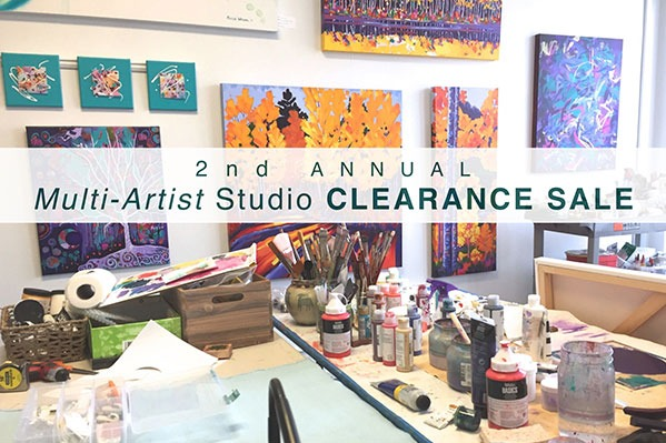 Second Annual Multi-Artist Studio Clearance Sale in downtown Corvallis