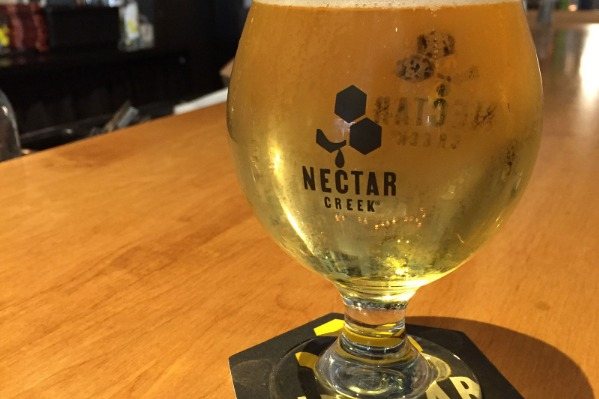 Nectar Creek Mead Glass with Mead, by Danielle Jarkowsky