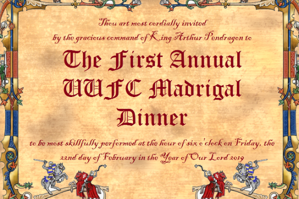 The First Annual UUFC Madrigal Dinner