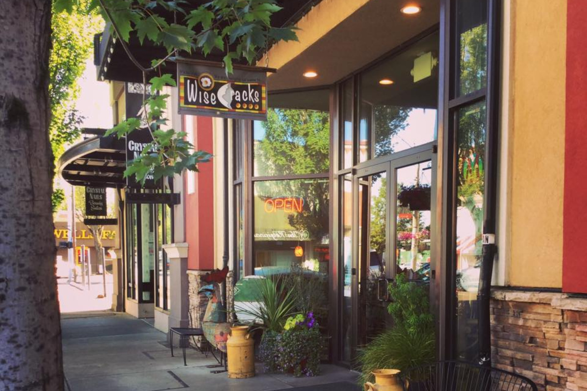 Wise Cracks Cafe, Corvallis, Oregon - A photo of the front of the restaurant, seen from 2nd Street