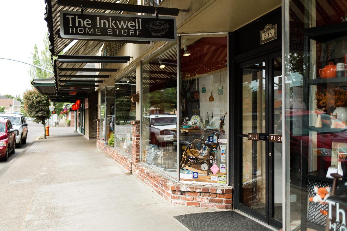 Inkwell Homestore in downtown Corvallis, Oregon