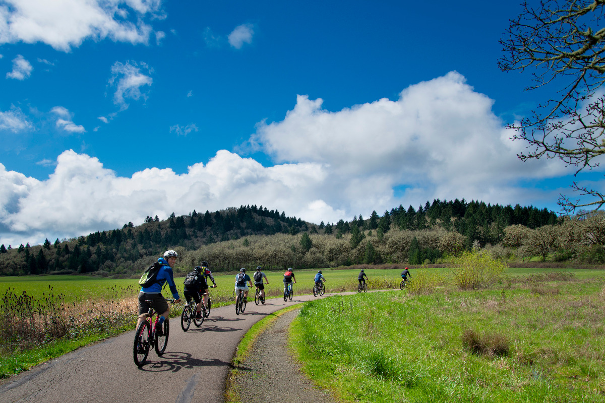 Go cycling at Bald Hill Natural Area in Corvallis, Oregon