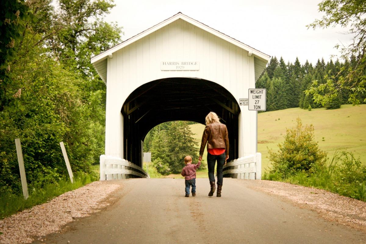 Harris Covered Bridge in Philomath, Oregon, by Lainey Morse