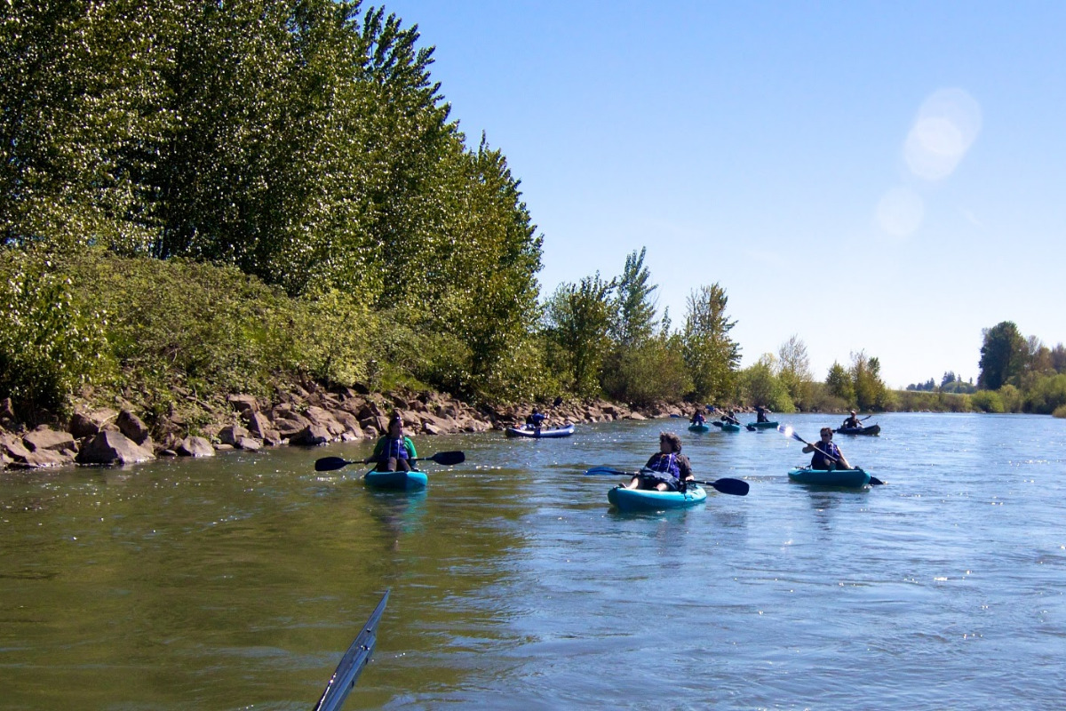 Kayaking the Willamette River, by Jennifer Johnson