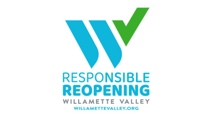 Willamette Valley Responsible reopening - Logo - Willamette Valley Visitors Association
