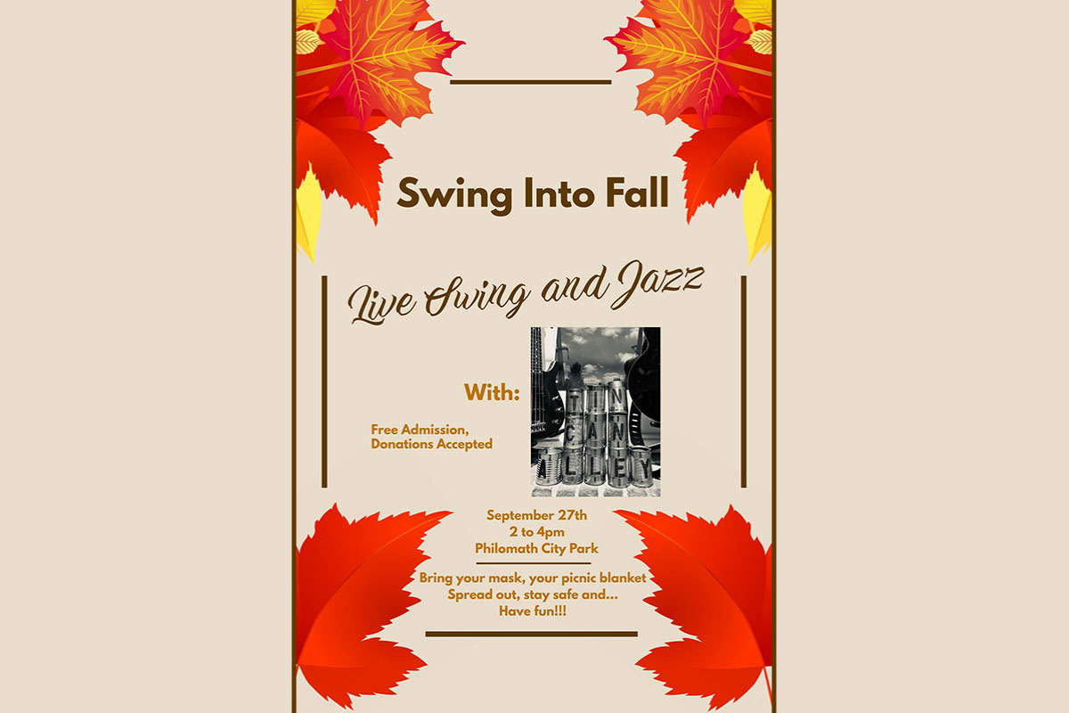 Swing into Fall with an outdoor concert at Philomath City Park with Tin Can Alley in Philomath, Oregon