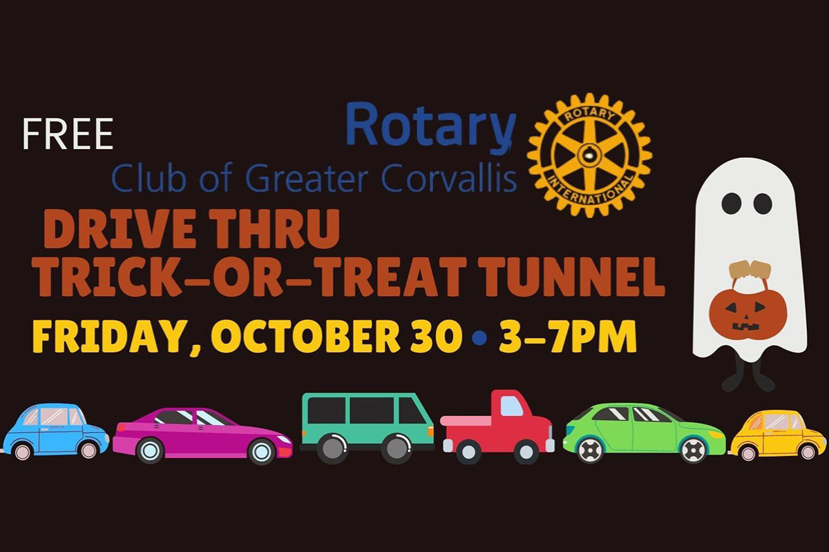 Rotary Club of Greater Corvallis presents a Drive-Through Trick or Treat on Oct. 30 in Corvallis, Oregon