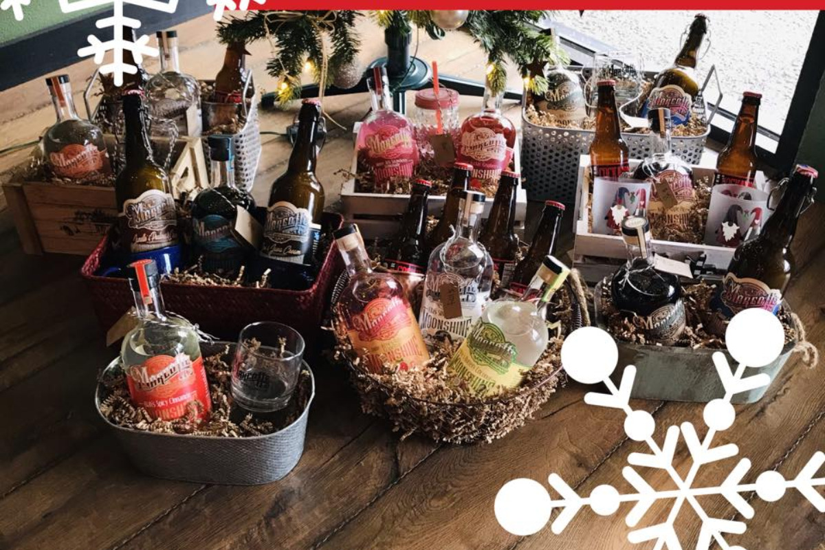 Gift baskets from Marcotte Distilling Company in Philomath, Oregon