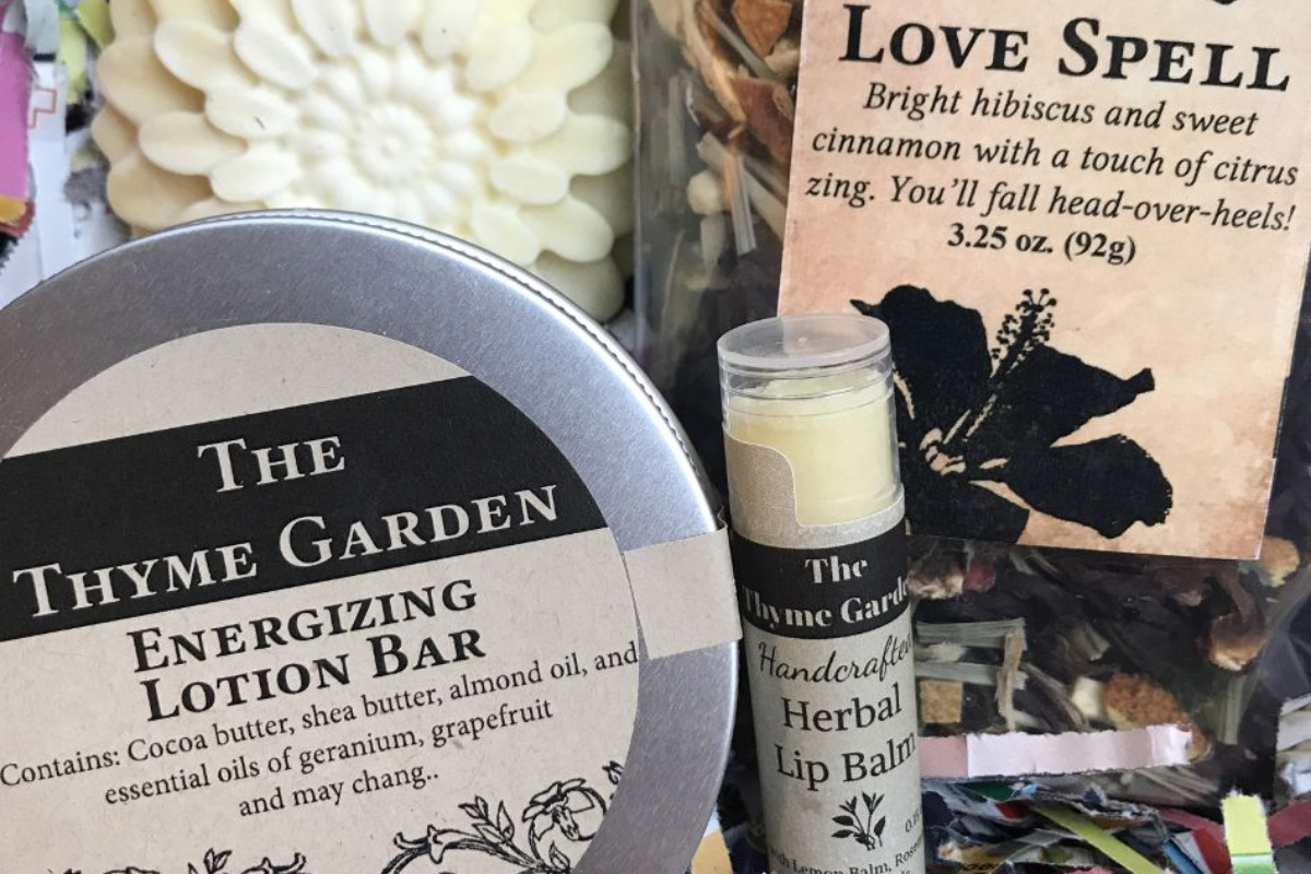 Gift boxes from The Thyme Garden in Alsea, Oregon