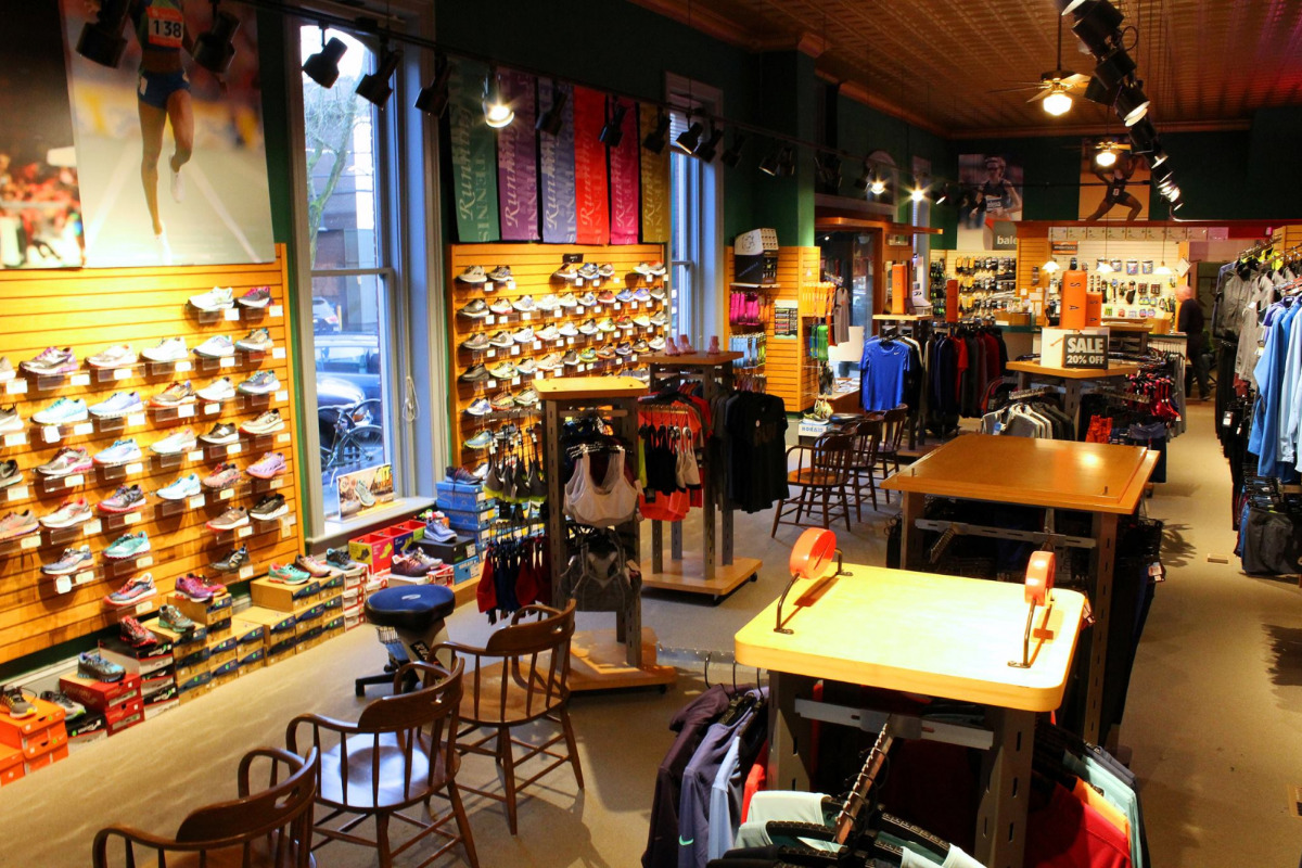 Five Star Sports, Corvallis, Oregon - The inside of the store showing sports shoes and clothes - via Facebook
