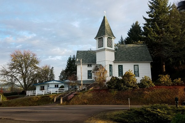 Bellfountain Community Church in Monroe, Oregon