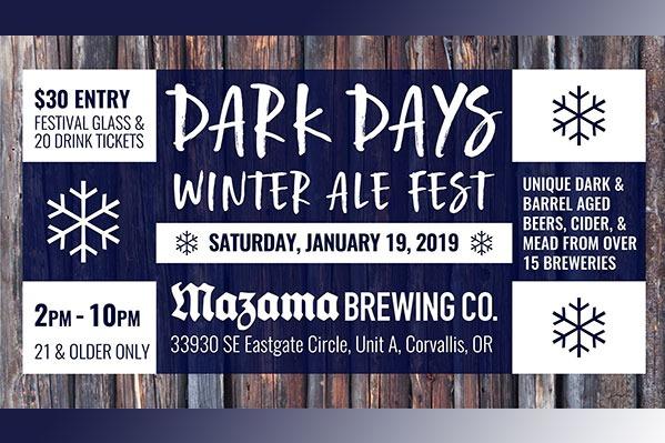 Dark Days Winter Ale Fest in Corvallis, Oregon