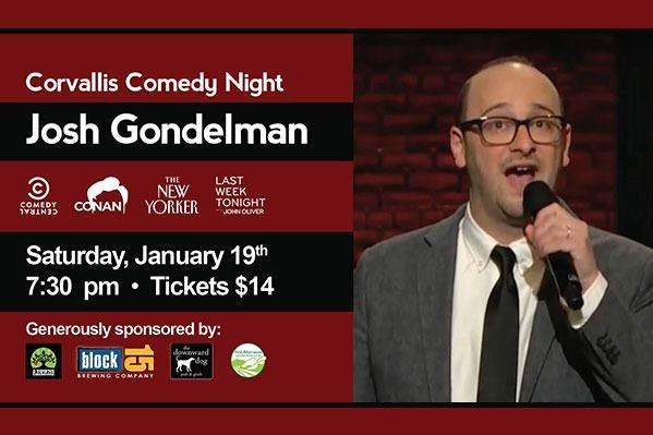 Corvallis Comedy Night: Josh Gondelman at the Majestic Theatre in Corvallis, Oregon