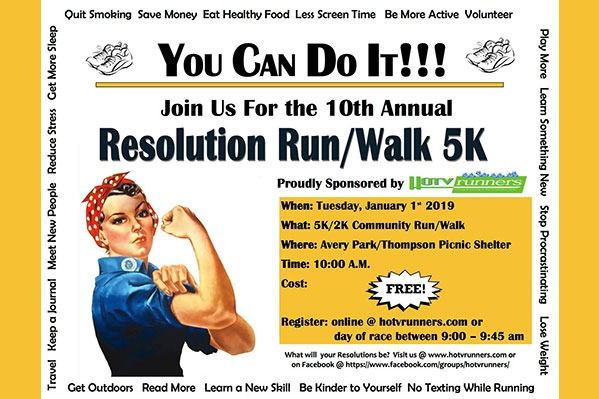 10th Annual HOTV Resolution Run in Corvallis, Oregon
