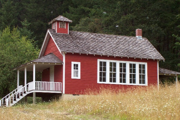 Soap Creek Schoolhouse near Corvallis, Oregon